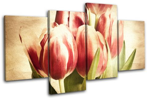 Tulips Flowers Vintage - 13-1535(00B)-MP04-LO
